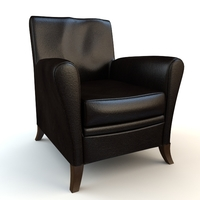 Black Armchair 3D Model