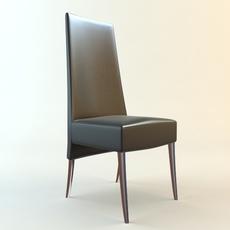 High Back side Chair 3D Model