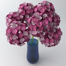 Bouquet in Vase 2 3D Model