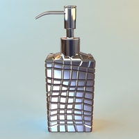 Pump Dispenser Bottle 3D Model