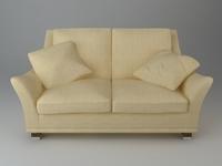 2 Seater Sofa 3D Model