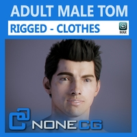 Adult Male Tom Rigged 3D Model