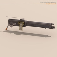 Vickers machine gun 3D Model