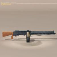 LMG14 machine gun 3D Model