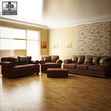Ashley Livingroom Ralstons. 3D Model