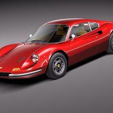 Ferrrai Dino 246 GT 1969 3D Model