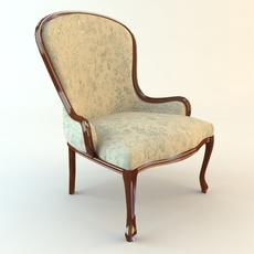 Classical Antique Armchair 3D Model