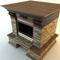 Photorealistic Fireplace 3D Model