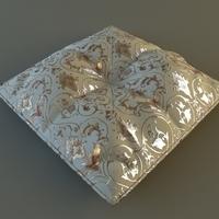 Brocade Pillow Low Poly 3D Model