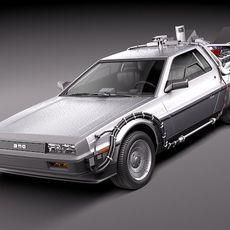 DeLorean DMC-12 Back To The Future 3D Model