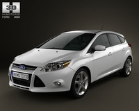 Ford Focus Hatchback 2012 3D Model