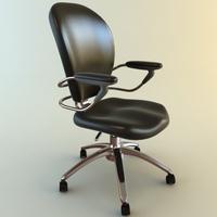 High Back Office Armchair 4 3D Model