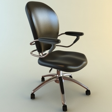 High Back Office Armchair 4 3D Model
