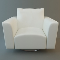 Low Poly Club Chair 3D Model