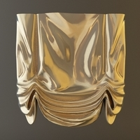 Roman Shade Window Curtain 3D Model