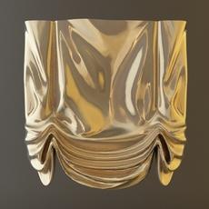 Roman Shade Window Curtain 3D Model