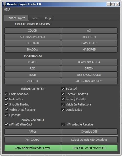 Render Tools for Maya