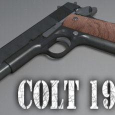 Highly Detailed Colt 1911 3D Model