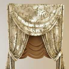 Classical Curtains & Jabot 3D Model