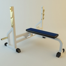 Rack Rod Exercise Equipment 3D Model