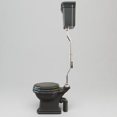 High Tank Toilet 3D Model