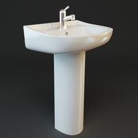 Bathroom Pedestal Sink 3D Model