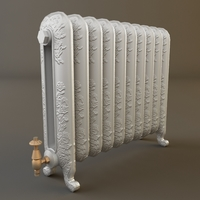 Ornate Antique Radiator 3D Model