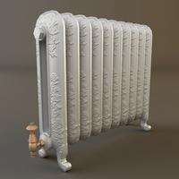 Ornate Antique Radiator 3D Model