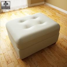 Ashley Zia - Spa Ottoman 3D Model