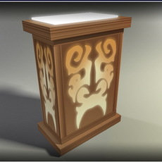 Lamp C1 - low poly 3D Model
