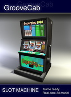 Slot Machine - Low Poly 2 3D Model