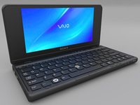 Sony Vaio P Laptop 3D Model