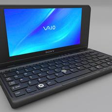 Sony Vaio P Laptop 3D Model