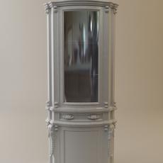 Antique Display Cabinet 3D Model