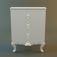Antique Nightstand 3D Model