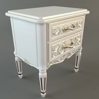 Nightstand with Drawers 3D Model