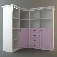 Corner Storage Cabinet 3D Model