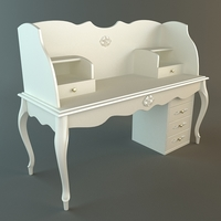 White Ladies Writing Desk 3D Model