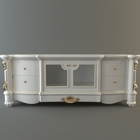 Ornate Credenza Cabinet 3D Model