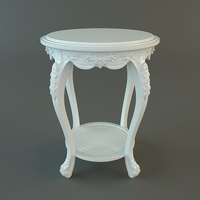 Antique End Table 3D Model