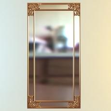 Wall Rectangular Mirror 3D Model