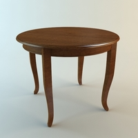 Wooden Round Table 3D Model