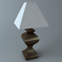 Wooden Table Lamp 3D Model