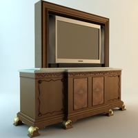 TV and Stand 3D Model