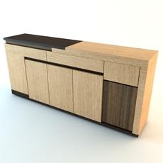 Contemporary Credenza Cabinet 3D Model