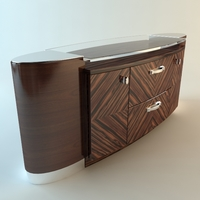 Zebrawood Buffet Cabinet 3D Model