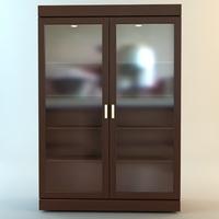 Bookshelf Cabinet Vitrine 3D Model