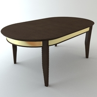 Oval Dining Table 3D Model