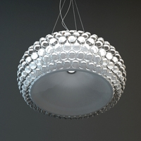 Glass Bead Hanging Light Fixture 3D Model