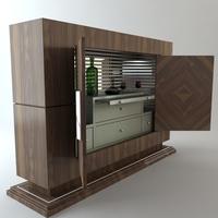 Wine Serving Bar Cabinet 3D Model